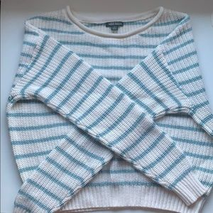 blue striped wild fable sweater